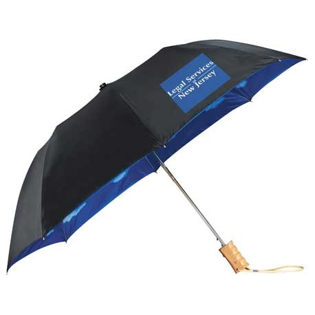 "46"" Blue Skies Auto Open Folding Umbrella"